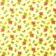 Tela patchwork Forever Love Flora florecitas sobre amarillo 1