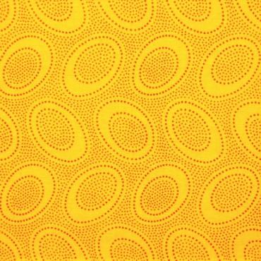 Tela patchwork Aboriginal Dot de Kaffe Fassett en amarillo dorado