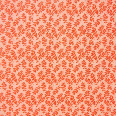 Tela patchwork Ghost hojitas en naranja