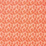 Tela patchwork Ghost hojitas en naranja 1