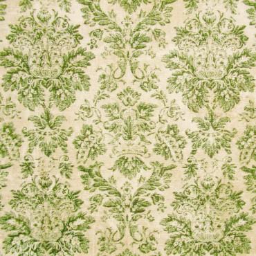 Tela patchwork Wallflower adamascado antiguo en verde