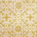 Tela patchwork Wallflower simetría arabesca en ocres 1