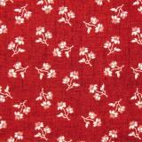 Tela patchwork Toile de Jouy florecitas blancas sobre granate 1