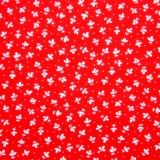 Tela patchwork hojitas y lunarcitos blancos sobre rojo 1