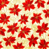 Tela patchwork Holiday Accents Classics poinsetias rojas 1
