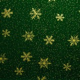 Cristales de nieve sobre verde