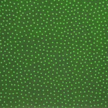 Tela patchwork de Navidad puntitos verdes sobre verde botella