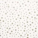 Tela patchwork: estrellitas plateadas sobre blanco 1