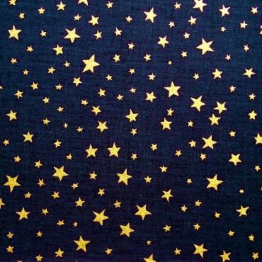 Tela patchwork de Navidad noche estrellada