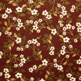 Tela patchwork Carmen entramado de florecitas sobre marrón 1