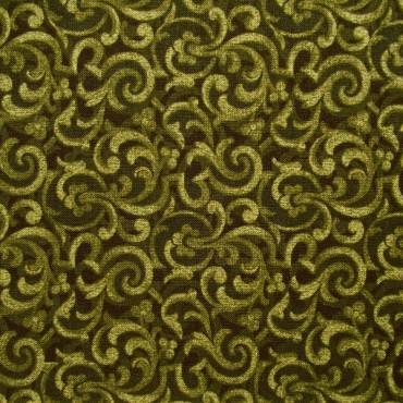 Tela patchwork Carmen filigranas en verde oliva