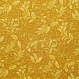 Tela patchwork A Mum for a Mum entramado de hojitas en mostaza 1