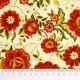 Tela patchwork Carmen flores en naranja óxido 2