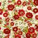 Tela patchwork Carmen flores en rojo 1
