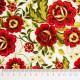 Tela patchwork Carmen flores en rojo 2
