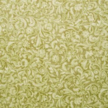 Tela patchwork Mirabelle Curiosity filigranas florales en verde