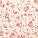 Tela patchwork Mirabele Curiosity flores sobre rosa 1