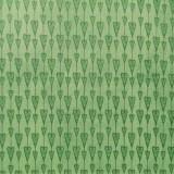 Tela patchwork Mirabelle guirnalda de corazones en verde 1