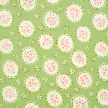 Tela patchwork Sweet Baby Rose medallones con flores
