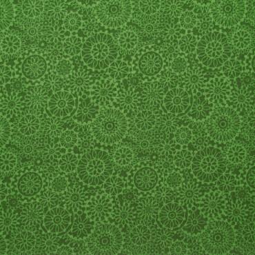 Tela patchwork Irrestible Iris mandalas en verde botella