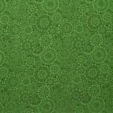 Tela patchwork Irrestible Iris mandalas en verde botella 1