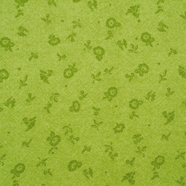 Tela patchwork Forever Love Flora campanillas en verde