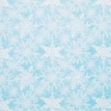 Tela patchwork de Navidad Snow Fun cristales de hielo sobre azul 1