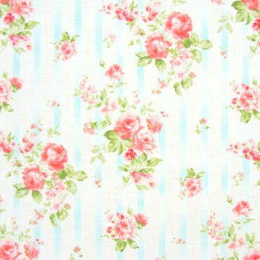 Tela patchwork Romance Coordinates ramos de rosas