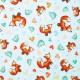 Tela patchwork Gorjuss Heartfelt zorritos y pajaritos sobre azul 1