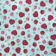 Tela patchwork Gorjuss My Story corazones, setas y manzanas sobre azul