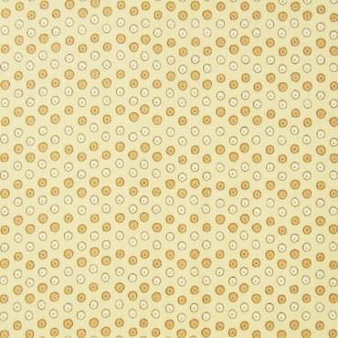 Tela patchwork de Navidad Festive Fun circulitos en beige