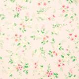 Tela patchwork Sweet Baby Rose flores sobre rosa 1