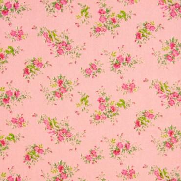 Tela patchwork japonesa Flower Points flores en rosa