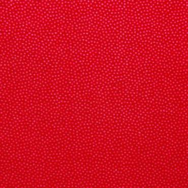 Tela patchwork puntitos en rojo claro sobre rojo cereza