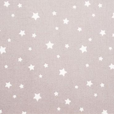 Tela patchwork estrellas blancas sobre gris